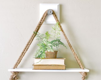 White Hanging Shelf