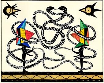 SOLD OUT Duality Giclee Print - Geometric Art Print - Spiritual Art Print - Mystic Print - Modern Art Print  - Housewarming Gift -