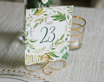 Set of 20 Large Wire infinity Bow table number holders, black, gold and silver table number holders