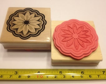 LARGE flower rubber stamp, 50 mm (R8)