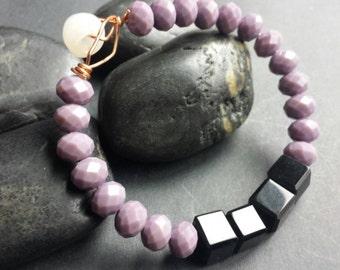 SMALL- Lavender Bliss Squared Bracelet