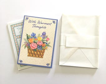 Vintage Greeting Cards, Unused Vintage Cards, Vintage Note Cards - Small Hallmark Gift Cards