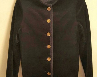 Heritage velvet collarless 60s jacket FLASH SALE