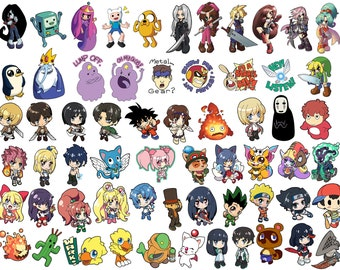 Custom 7 Sticker Collection - Mix and Match - Choose any 7! Anime, Video Game Characters, and more!