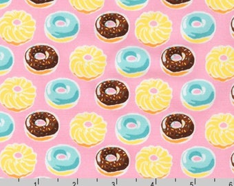 Sevenberry Mini Prints - Doughnuts Sweet Pink from Robert Kaufman