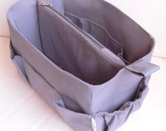 Purse organizer Fits large Longchamp Le Pliage- Bag organizer insert in Light Gray