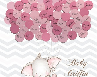 Baby Shower Guest Book TUTU Elephant - Guest Book Elephant