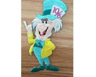 Mad Hatter - Alice In Wonderland - Disney - Movie - Embroidered Iron On Applique Patch B