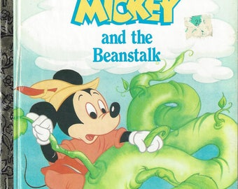 Vintage A Little Golden Book, Walt Disney's Mickey and the Beanstalk Children's Book, C1991
