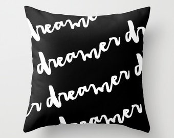 Black and White Pillow Cover, Velvet Cushion Cover, Black Pillow, Kids Room Decor, Kids Pillows, Boys Room Decor, Girls Bedroom Decor, Black