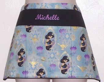 Disney Aladden Jasmine  waitress half apron with three pockets 6182