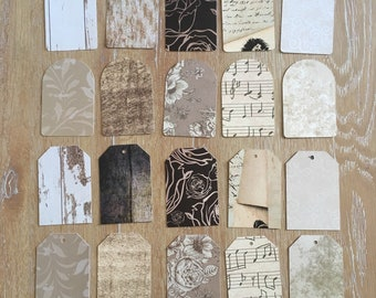 Vintage Style Tags and Tabs for Junk Journals and Scrapbooks