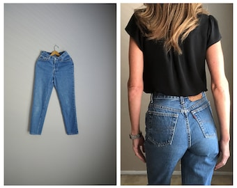 vintage 80s ladies 501s Levi's Jeans button fly high waisted -- womens 26x29
