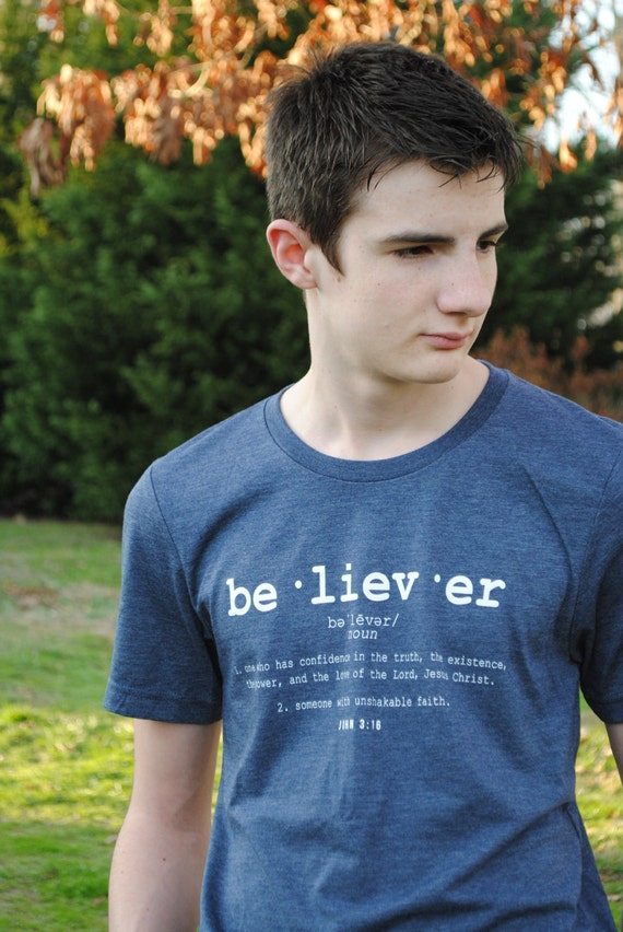 BELIEVER tshirt | relaxed fit tee | soft tri blend shirt | scripture unisex top