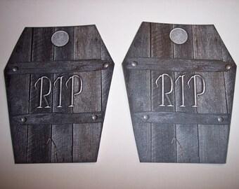 RIP Coffin Journaling Tags set of 5