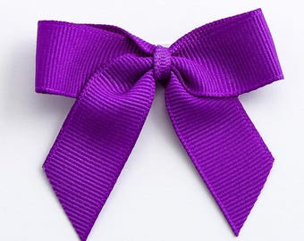 Purple Self Adhesive 16mm Grosgrain Ribbon Pre Tied 5cm Bows