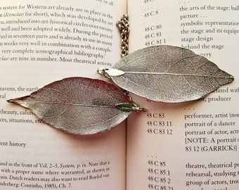 Silver-tone Leaf Sweater/Cardigan Clips