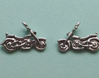 10 Motorcycle Charms Silver - CS2228