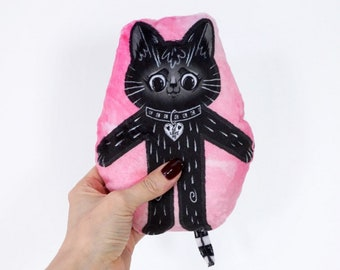 Black Cat BFF mini pillow doll