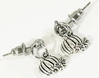 Pumpkin Earrings, Fall Jewelry, Fall Earrings, Pumpkin Jewelry, Thanksgiving Jewelry Gift For Her, Petite Earrings, Pumpkin Gifts