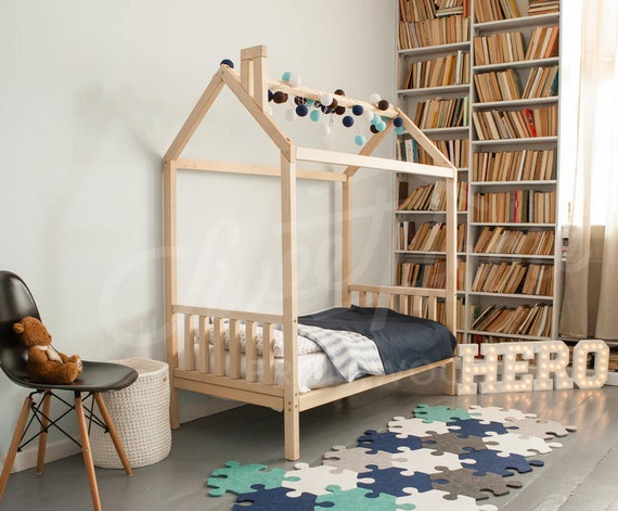 Bed House Wood Bed House Bed Children Bed Toddler Bed Children