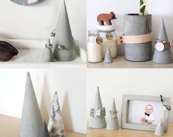 Grey Jewellery Cones