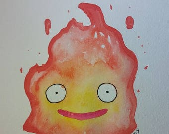 Howl's Moving Castle Calcifer Painting