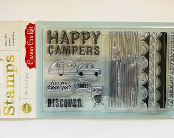 Happy Campers Clear Stamps by Cosmo Cricket