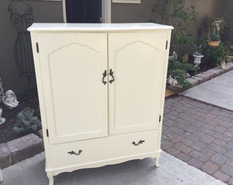 SOLD ~ 1950's Vintage French Armoire