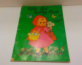Vintage 1990 Little Red Riding Hood (26) Coloring Book