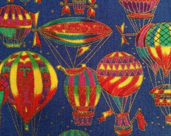 SALE - One Half Yard of Fabric Material - Hot Air Balloons
