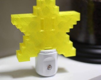 Super Mario Star Automatic Night Light, great for nursery, bedrooms. utility, gamer, nerd