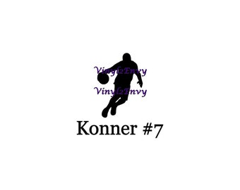 Personalized Basketball Name Decal - Car Decal - Vinyl Car Decal, Window Decal, Basketball Decal, Personalized Basketball Decal