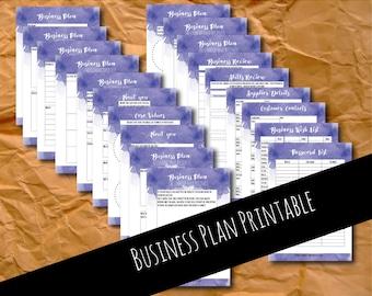 Business plan, business planner, business planning, small business, business template, small business plan, printable planner, small biz, A4