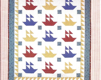 Sail Away Stripes Ahoy Classic Sailboat Quilt Pattern / Jo-Lydia's Attic