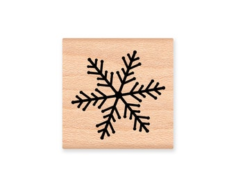 WINTER SNOWFLAKE rubber stamp~Christmas Holiday Decorating and Card Making~Wood Mounted Rubber Stamp (29-04A/Lg)(29-04B/Med)(29-04C/Sm)