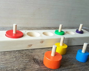 Montessori toys, Wooden Puzzle, Educational Toys, Learning Toys, Waldorf Inspired, Toddler Toys, Preschool Toys, Wooden Toys, Wood Toys, Peg
