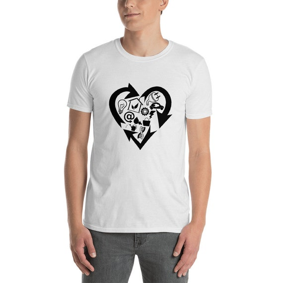 Love to recycle technology Earth Day tee Short-Sleeve Unisex environmental T-Shirt