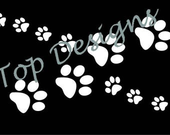 Paw Infinity Symbol Decal
