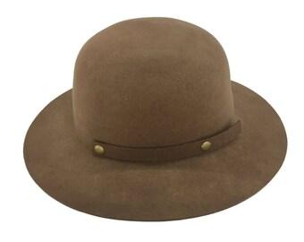 Alpas Men's 100% Organic Wool Felt Cloche Bowler Style YY-050