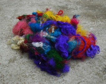 Recycled Silk Spinning Fiber 1 Ounce
