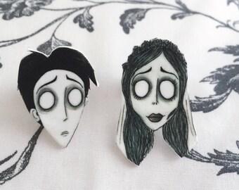 Corpse Bride Pin Set