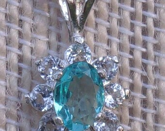 Apatite Cluster Sterling Silver Pendant