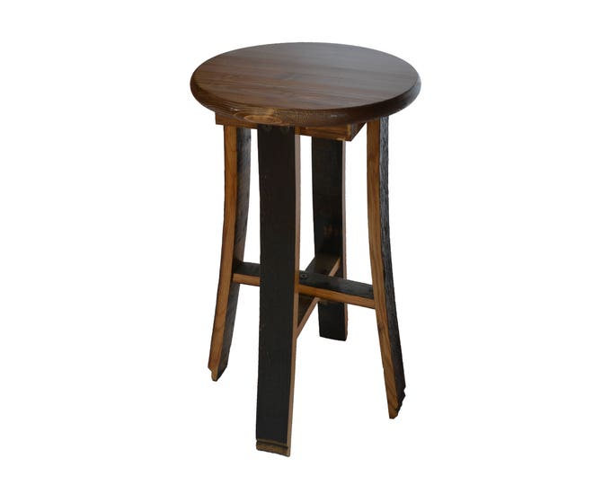 Bourbon Whiskey Barrel Stave Stool