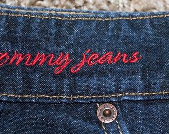 Tommy Hilfiger High Waisted Jean Mini Skirt - Size 7
