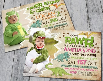 Dinosaur Birthday Party Invitation (Digital)