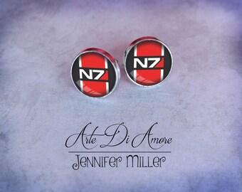 N7 Dangle or Stud Earrings