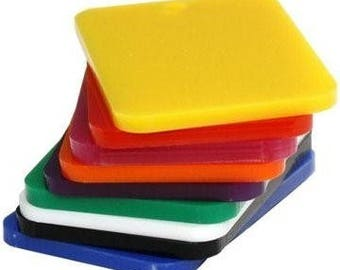 Bulk Pack Perspex Sheet (Opaque) 3mm x 297mm x 210mm (A4) 9 Sheets 9 Colours