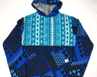 50% OFF SALE One of a Kind - BLUE Burst Pullover ( X Large )