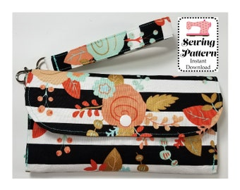 Wallet SEWING PATTERN PDF, Budget System, cash Envelope Wallet -Wallet with Dividers -It can be used with the Ramsey Budgeting System
